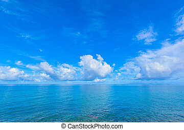 Blue sky and ocean view