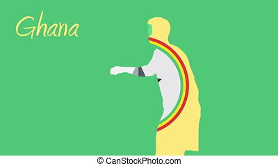 Ghana world cup 2014 animation with player in green