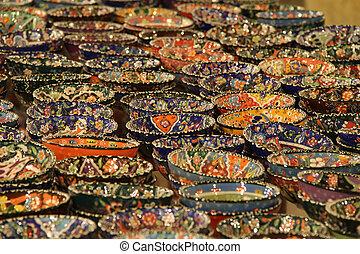 ceramica, fatto mano, turco
