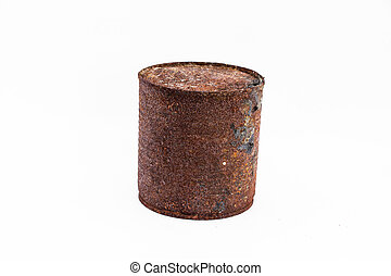 Old can rusty