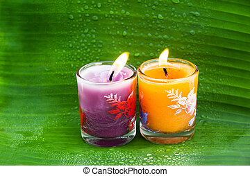 Candle for thai spa