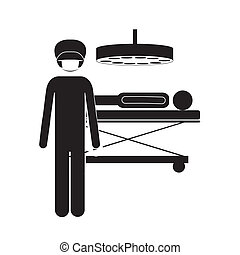 Occupations design over white background, vector...
