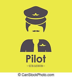 Occupations design over yellow background, vector...