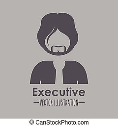 Occupations design over brown background, vector...