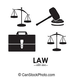 Law design over white background,vector illustration