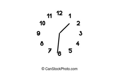 Clock8-16 - Motion background with spinning clock in 12 hour...