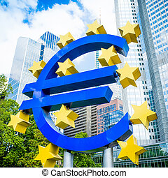 Euro Sign - MAY 16 : Euro Sign European Central Bank ECB is...