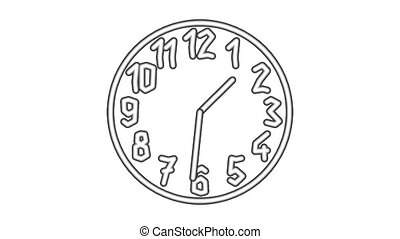 Clock8-33 - Motion background with spinning clock in 12 hour...
