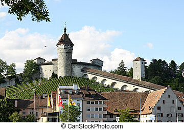 Munot fortress. Switzerland - Munot fortress. Schaffhausen,...