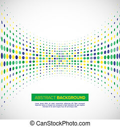 Vector halftone background in Brazil concept.