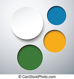 Abstract infographics with paper round notes - Abstract...