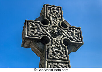 Celtic Cross - Celtic stone cross in the grounds of St...