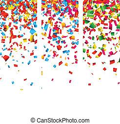 Confetti celebration banners.