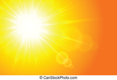 Sun Horizontal background, vector illustration for your...