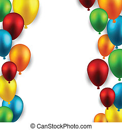 Celebrate frame background with balloons. - Celebration...