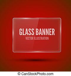 Glass framework Vector illustration - Glass framework on red...