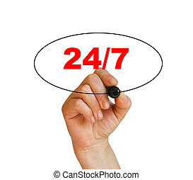 concept 24/7 - presenting a business concept for making...