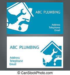 design business cards for plumbing