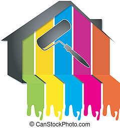 diseño, Pintura, Casas