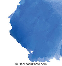 Blue watercolor background banner for your design.