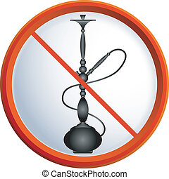 No smoking hookah - No smoking shisha, a symbol for the...