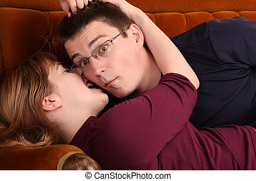 Love bite - Couple on the sofa