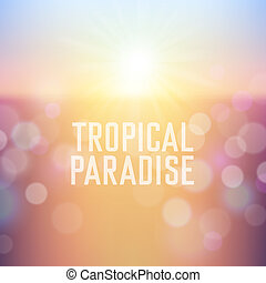 Summer holiday tropical beach background - Tropical paradise...