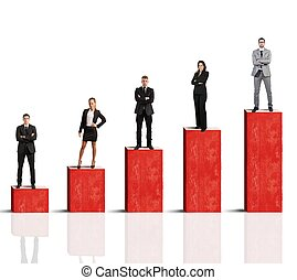 Successful team - Concept of successful team with growing...