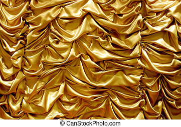 shiny gold fabric curtain texture