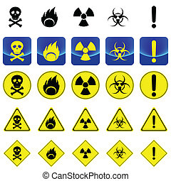 Warning sign for radio active, bio