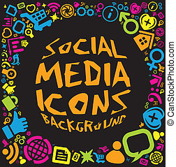 Social media icon background