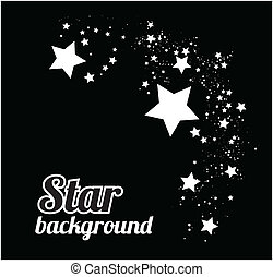 Star background vector illustration on black - Star abstract...