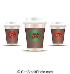 Coffee to go - Vector illustration of a takeaway coffee cup...
