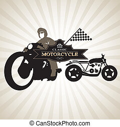 silhouettes of Motorcycle 0041