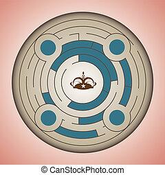 Round maze vector 0044