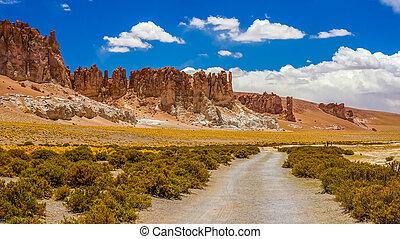 Landscape in Atacama desert