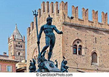 Neptune Statue in Bologna, Italy - Neptune Statue is a...