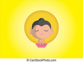 Buddha - buddha sit on lotus