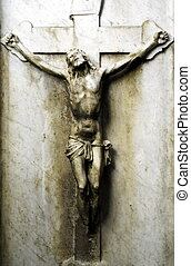 Crucifix - Old jesus christ statue