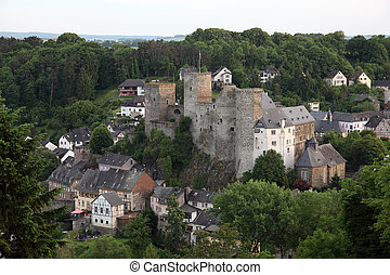 Historic fortress in Town Runkel, Hesse, Germany