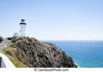Light house on a cliff