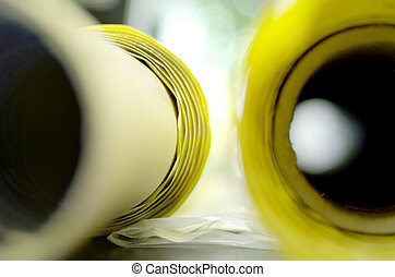 yellow paper roll