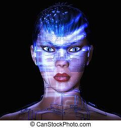 Digital Female - Digital Rendering of a Female