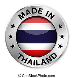 Made In Thailand - Made in Thailand silver badge and icon...