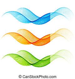 Set of color curve lines