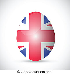 uk flag egg illustration design over a white background