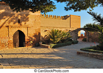Square Alcazaba - The Alcazaba of Almeria is a fortified...