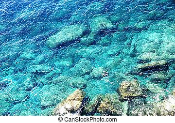 Coast of the Cinque Terre - Rocky coast of the Cinque terre...