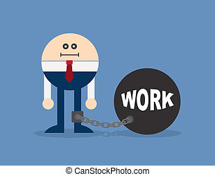 Character Locked In Work Ball And C - Character locked to a...