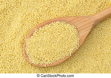 Semolina couscous - Wheat semolina couscous background with...